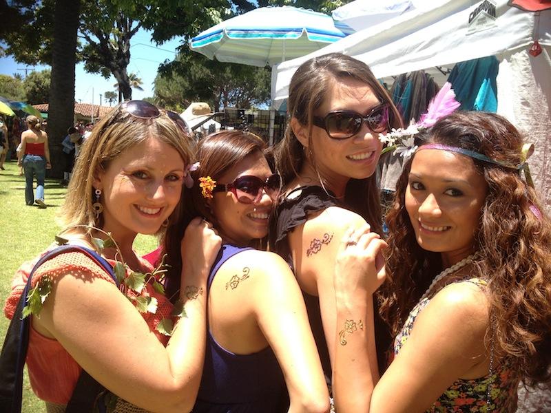 Santa Barbara Solstice Henna Tattoos
