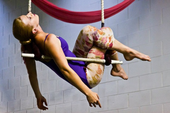 Trapeze Dancer at La Petite Chouette Aerial Arts Studio