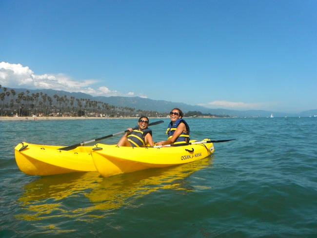 Kayaking in Santa Barbara