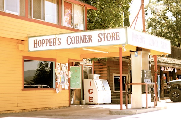 Country corner store in Potter Valley
