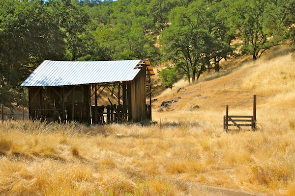Old barn at country ranch