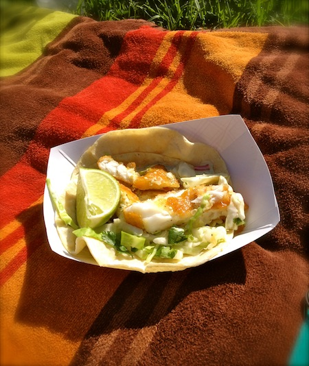 Fish tacos in Santa Barbara