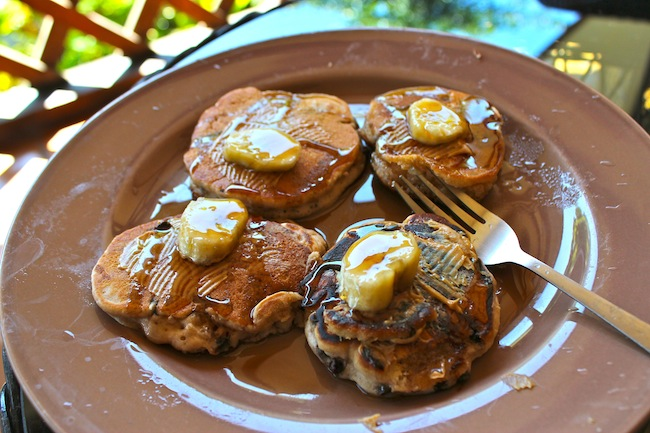 Banana pancakes in Costa Rica