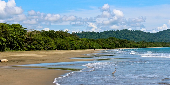 Beach in Puerto Viejo, Costa Rica
