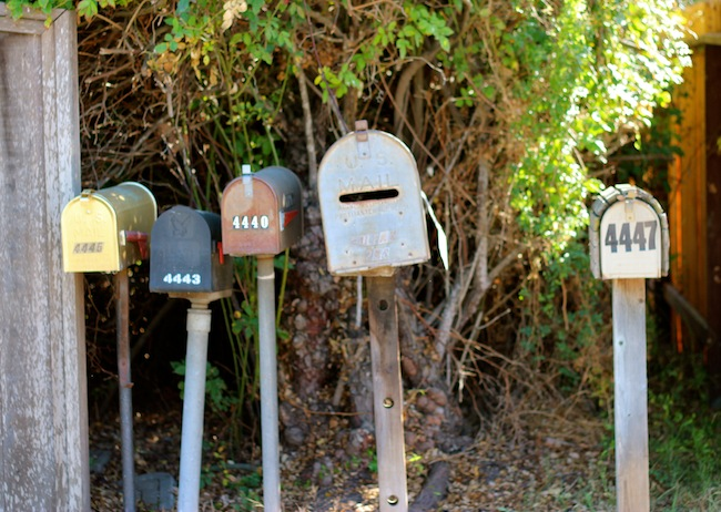Mailboxes in Santa Barbara