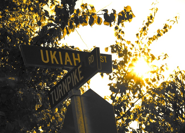 Ukiah Street sign in Santa Barbara