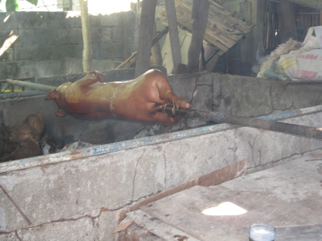 Pig roast in the Philippines