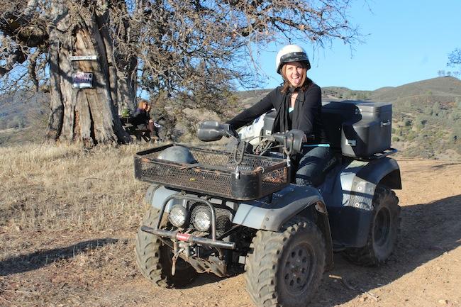 Riding a 4-wheeler