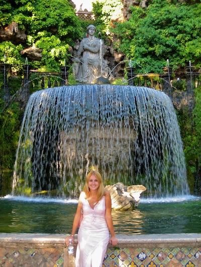 Fountain at Tivoli, Italy