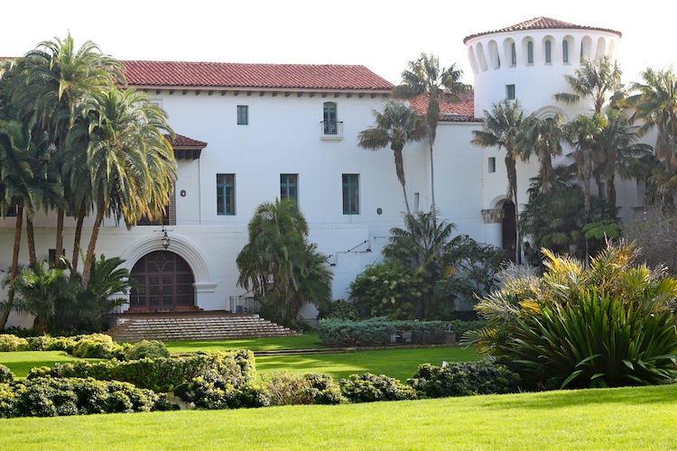 The Sunken Gardens of the Santa Barbara Courthouse