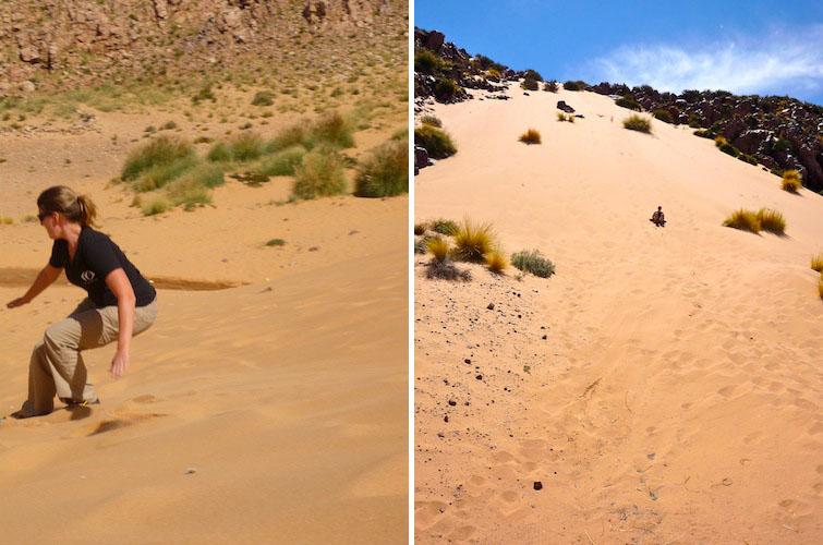Sandboarding in Argentina