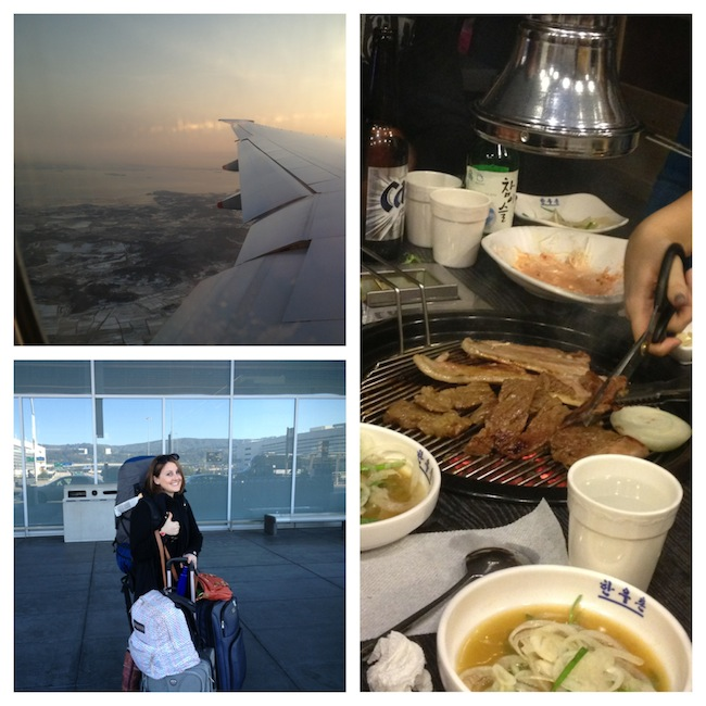 Photos of getting to Korea