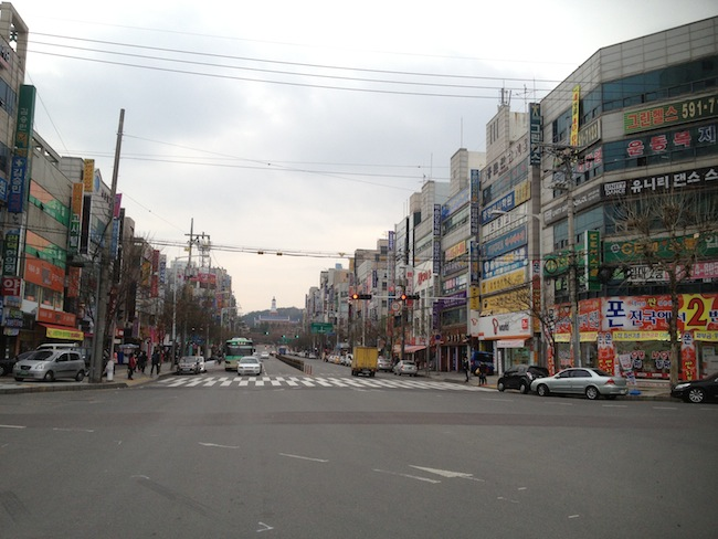 Street near my house in Korea