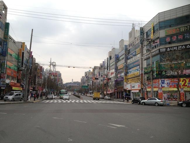 Street near my house in Korea