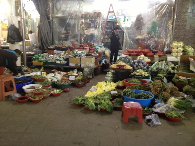 Market near my house in Korea