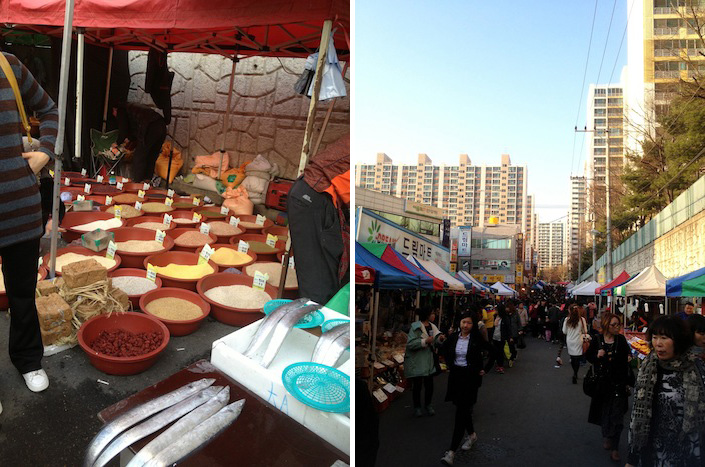 Market next to my house in Korea
