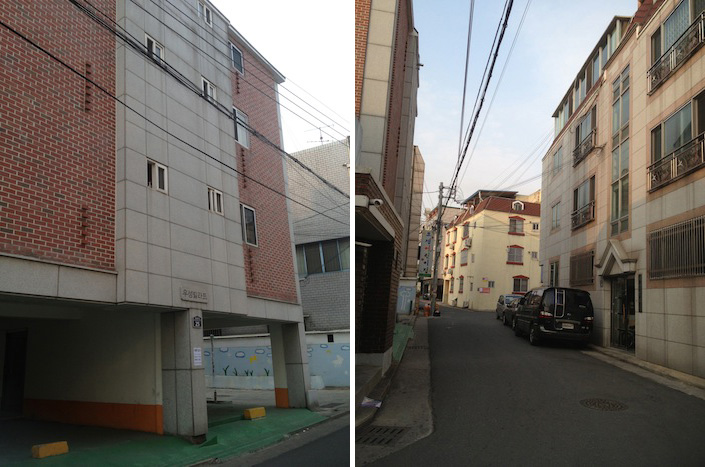 My street and building in Korea