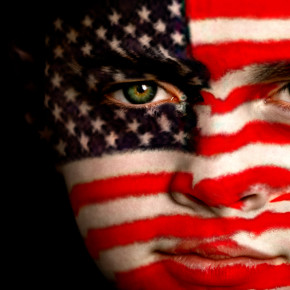 American Flag Child's Face