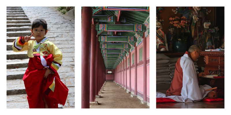 Temples in Korea during Chuseok