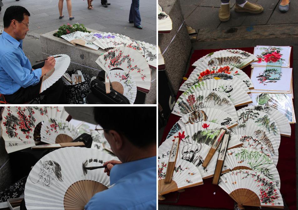 Fan painter in Insadong, Seoul