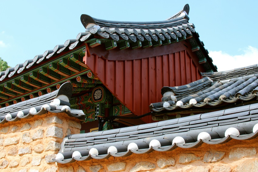 Roofs of Beomo Temple, Busan Korea