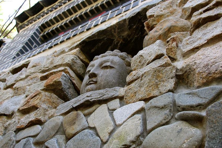 Buddha head at Yongung Temple, Busan