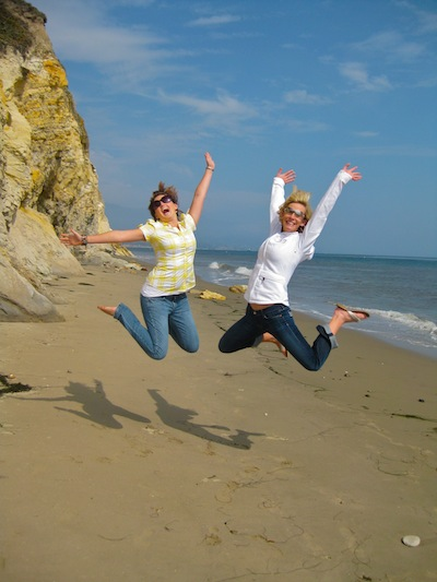 Beach jumping picture