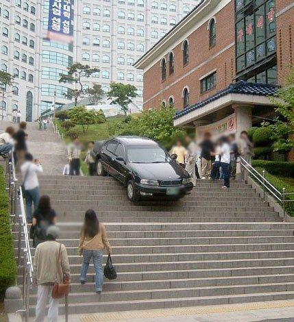 Crazy driving in Korea