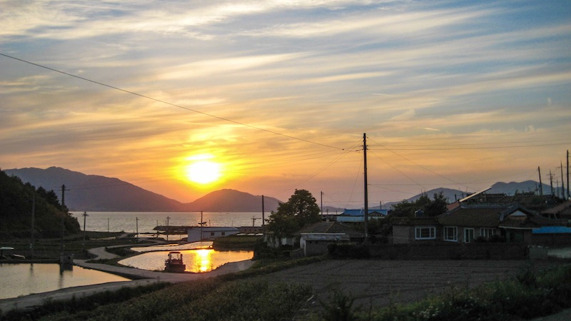 Sunset on Namhae Island