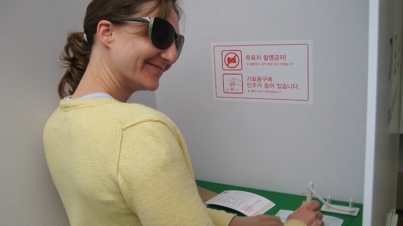 Weird Korea experience: forced to fake vote