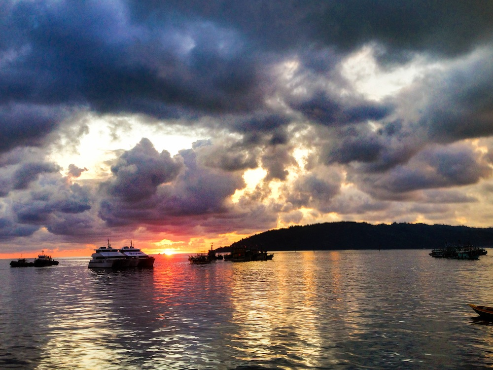 Beautiful Sunset in Kota Kinabalu Borneo
