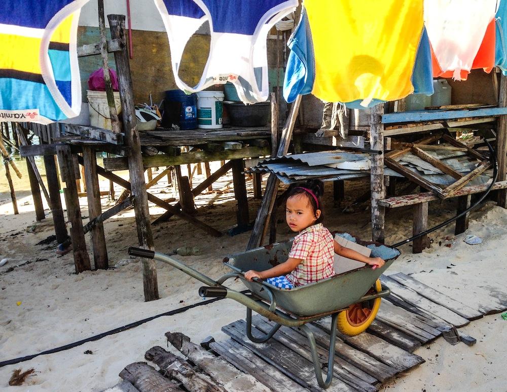 Child on Mabul island Borneo