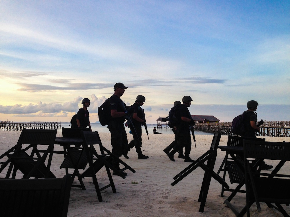 Police on Mabul island