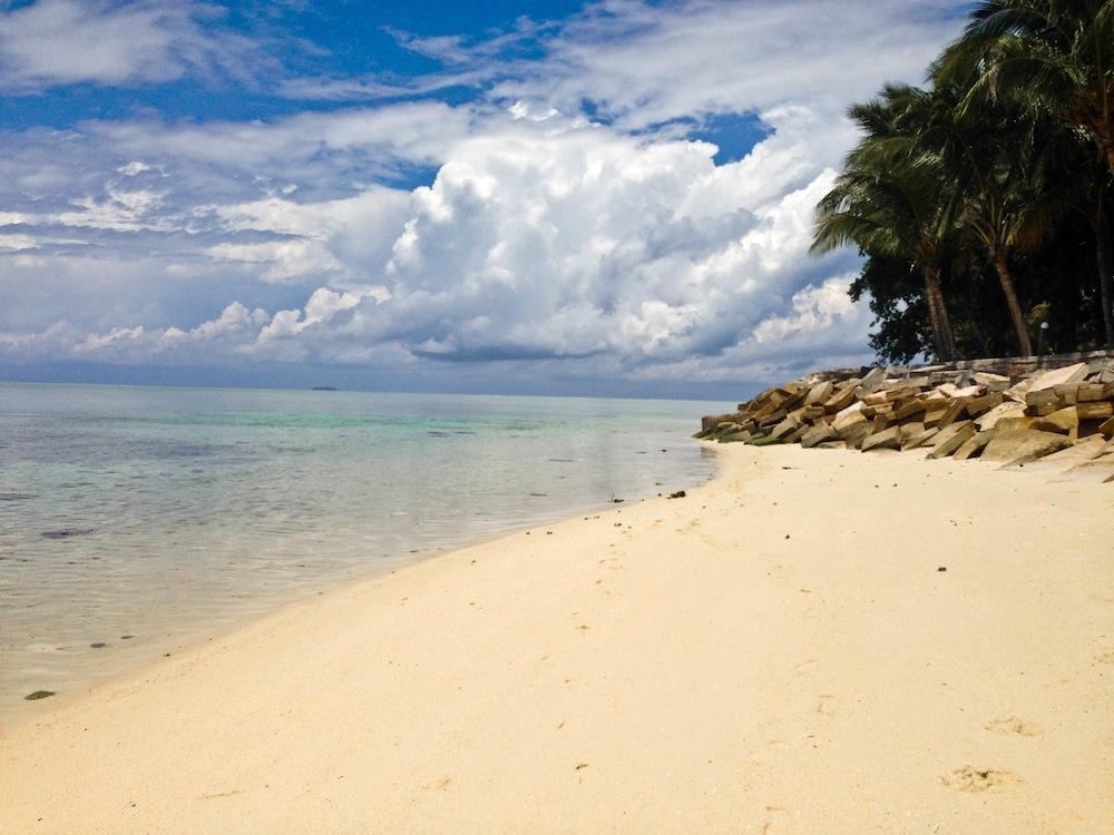 The beach on Mabul island