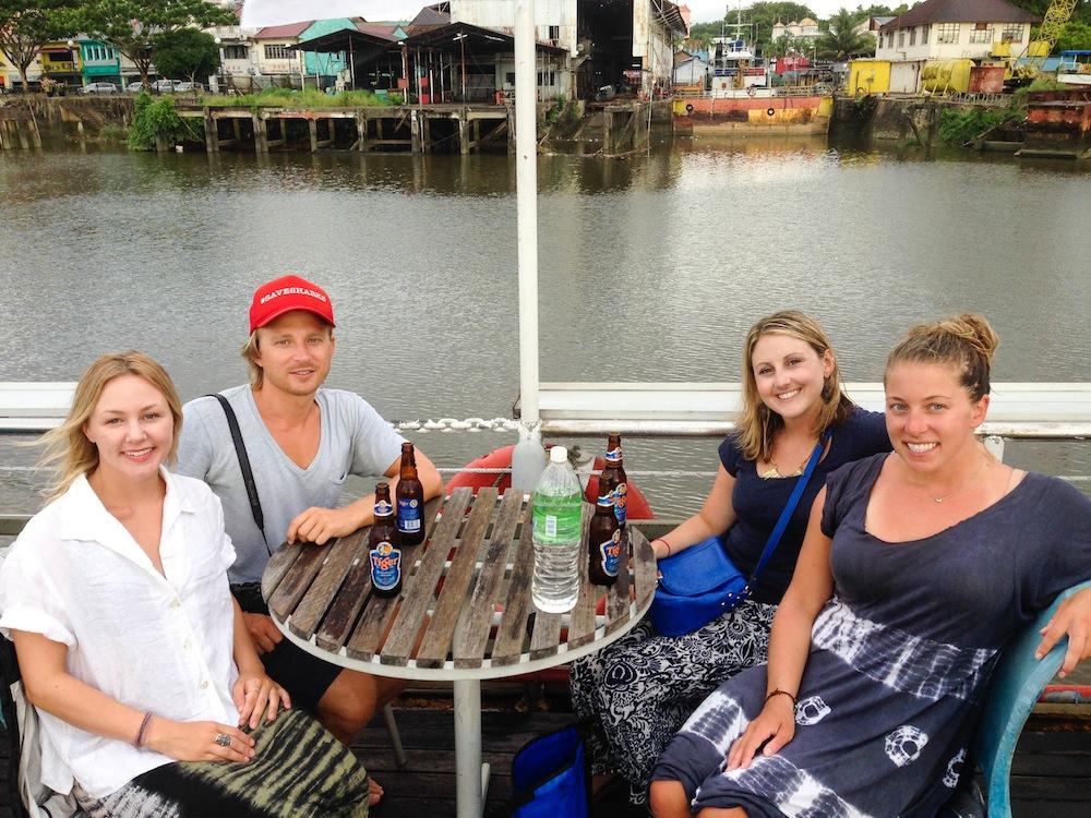 Solo Female Backpacker River Cruise Kuching Borneo