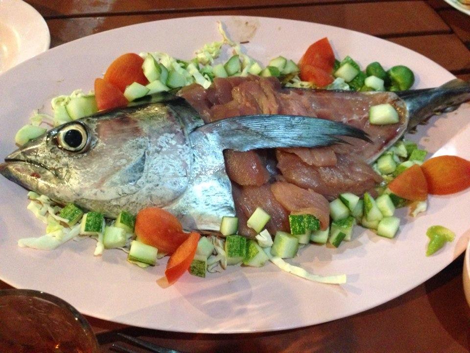 Tuna fish sashimi