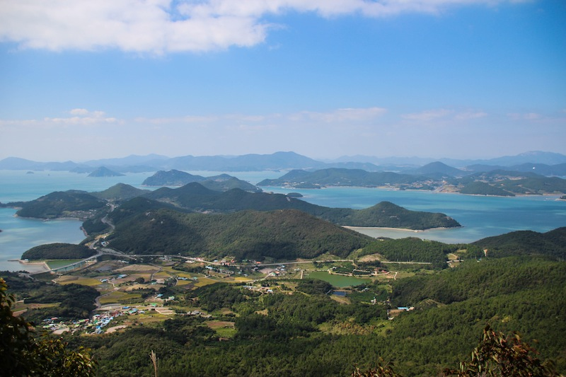 View from mountain in Dadohaehaesang Goheung Island