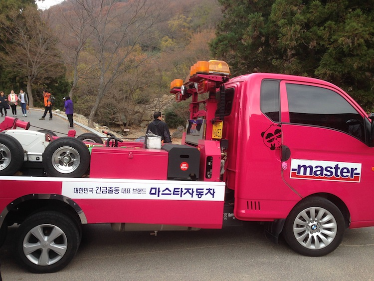 Cute tow truck Korea
