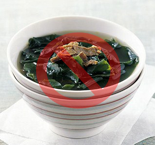 Seaweed soup Korean test day superstitions