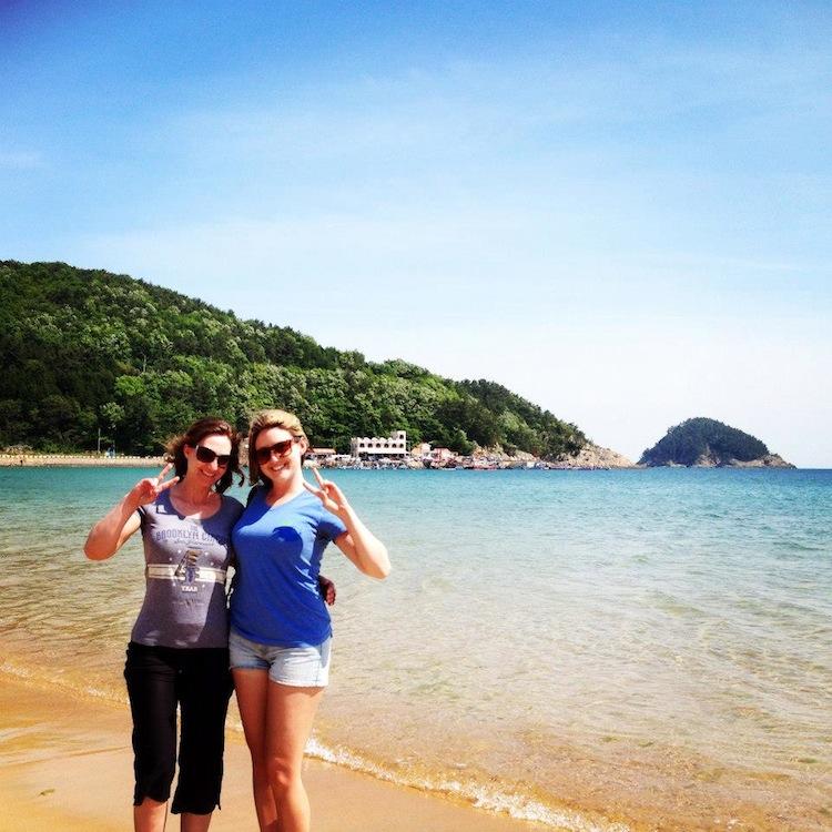 Sangju beach Namhae Korea
