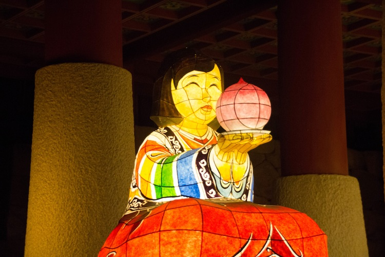 Beomeosa temple stay lanterns