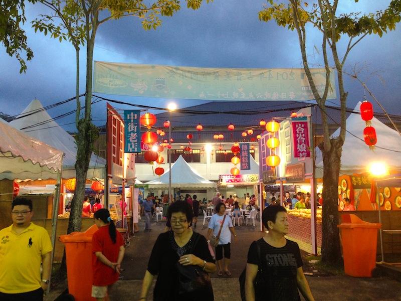 Food market in Kuching