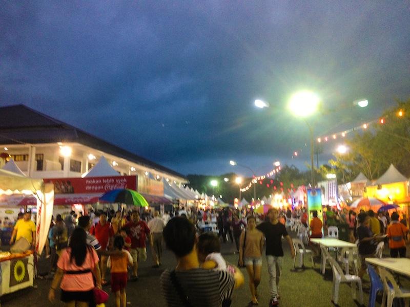 Night market in Kuching Borneo