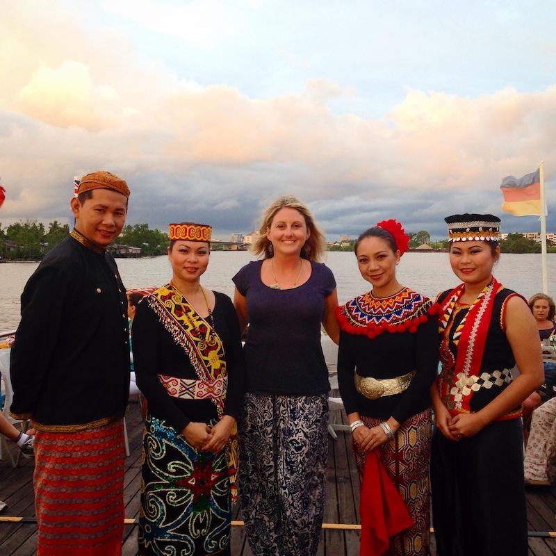Cultural dancers in Kuching Borneo