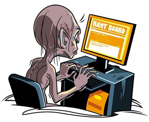 gollum at computer deskwarming