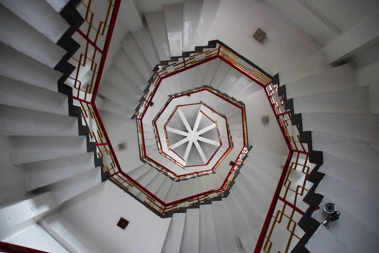 spiral staircase tower Taiwan