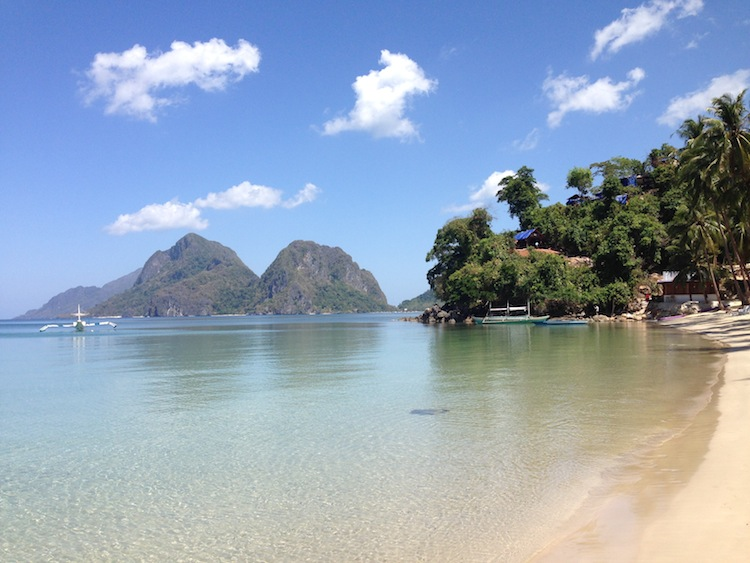 Beach in Philippines El Nido