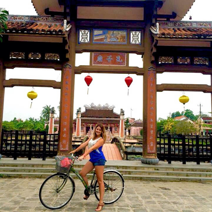 riding bikes in Hoi An