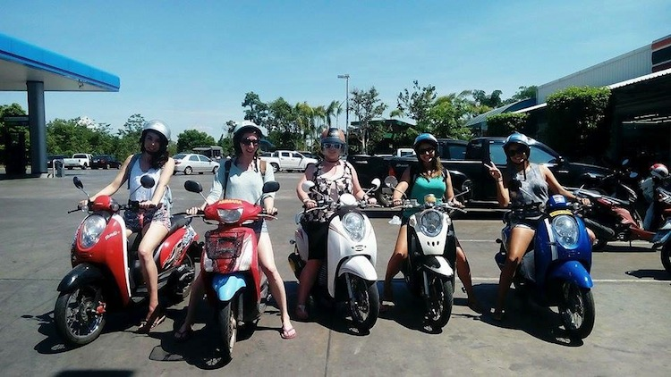 motorbiking in Thailand