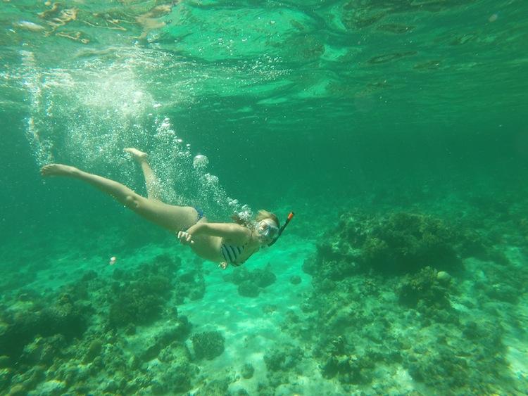 free diving in Borneo